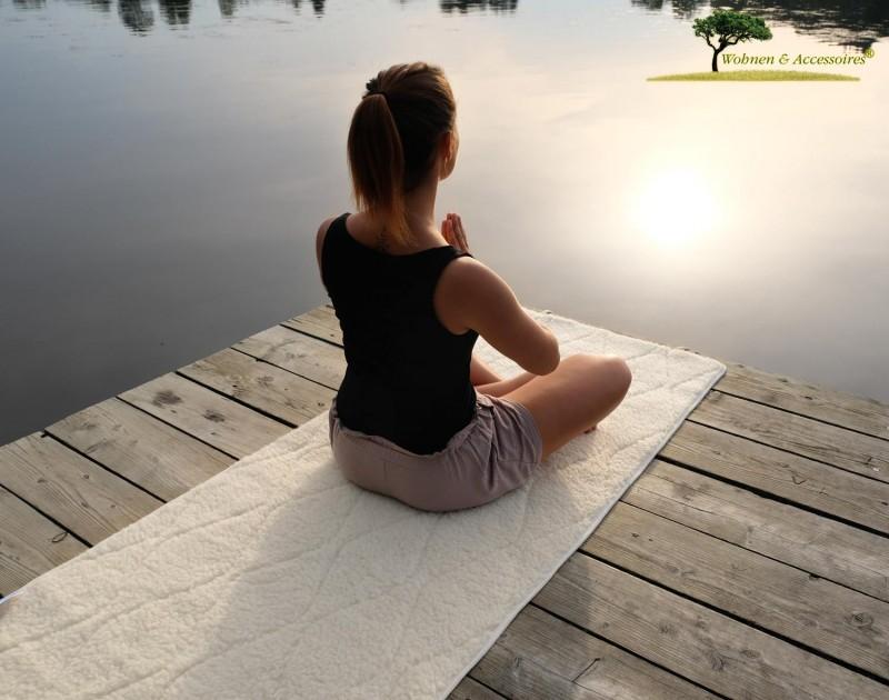 Yogamatte, ÖKO Yoga Matte aus kbT Schurwolle und kbA Baumwolle