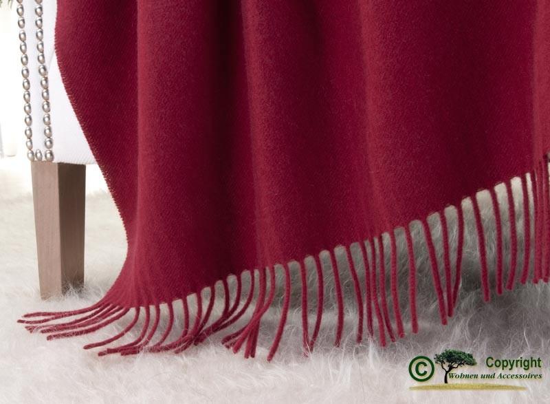 Kaschmirdecke Victoria rot, 100% Kaschmir 130x220cm