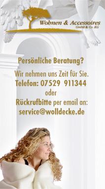 Wolldecken Service