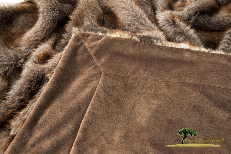 felldecke webpelzdecke fellimitat decke otter 150x200cm ebay. Black Bedroom Furniture Sets. Home Design Ideas