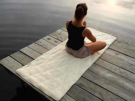Yogamatten aus Wolle