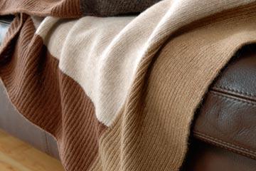 Gestrickte Wolldecken