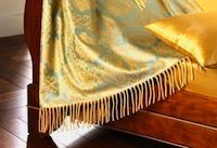 Plaid Wolle- Seide und Satin