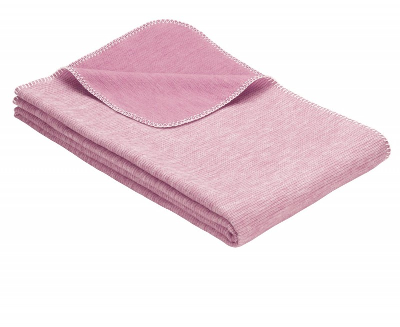 IBENA Babydecke aus 100% Baumwolle GOTS zertifiziert 70x100cm rosa