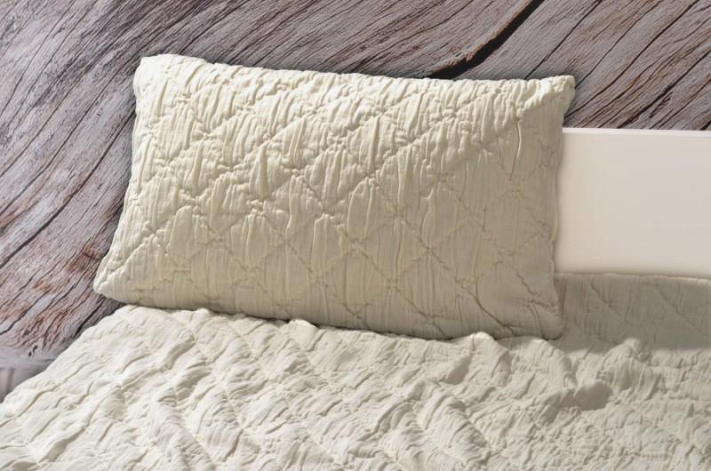 Kissen Aveiro - Rautenmuster - beige 30x50cm