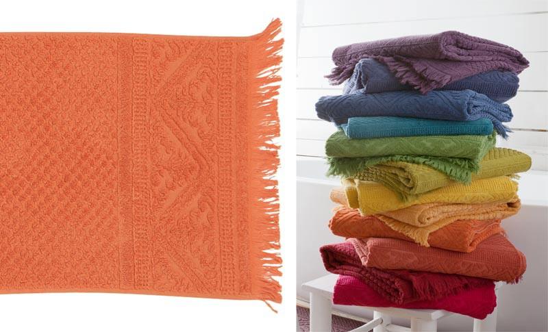 Gästehandtuch, Gästetuch 30x50cm aus reiner Baumwolle in orange