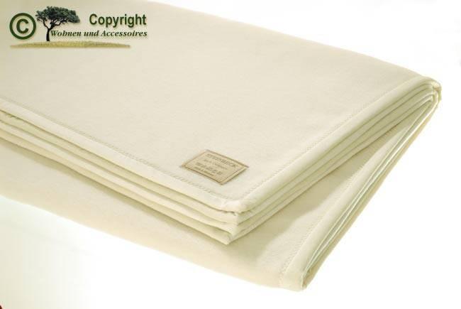 100% Kaschmir Wolldecke von Steinbeck, Kaschmirdecke weiß in 150x200cm
