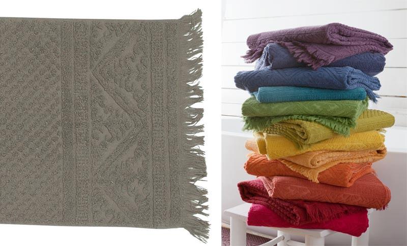 Handtuch 50x100cm aus reiner Baumwolle in grau-braun