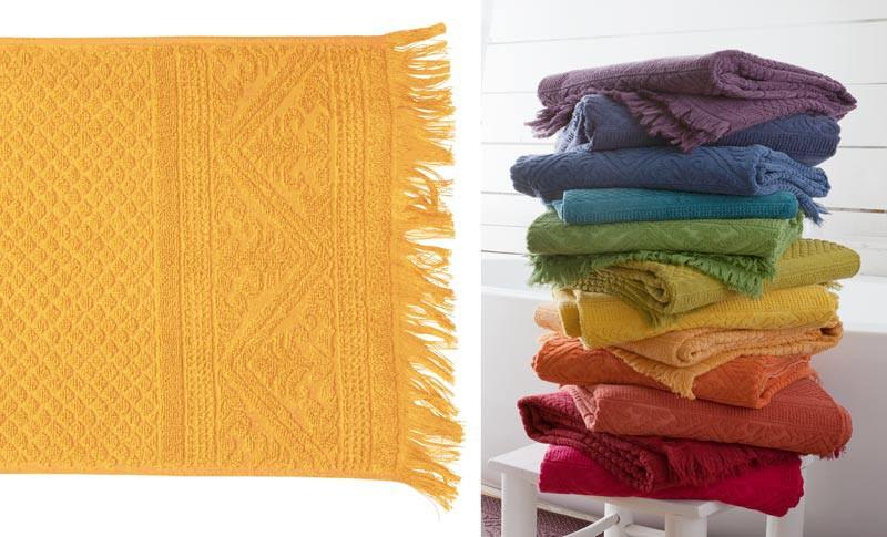 Handtuch 50x100cm aus reiner Baumwolle in gelb