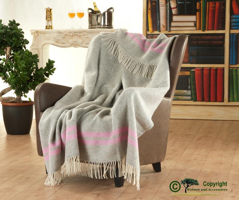 englisches wollplaid mit fransen wolldecke fischgrat 2 streifen aus 100 neuseeland wolle. Black Bedroom Furniture Sets. Home Design Ideas