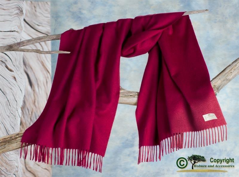 Kaschmirstola Perlmutt, Stola aus 100% Kaschmir mit Wasserglanz rot ca. 65x200cm