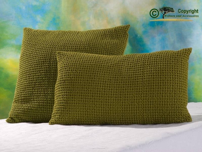 Hübsches Kissen Maia mit toller Struktur, 30x50cm in grün