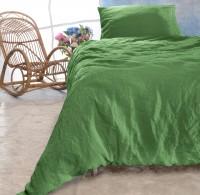 Leinen-Bettwäsche-Set Sintra apfelgrün 100% Leinen - hergestellt in Portugal nach Öko Tex 100