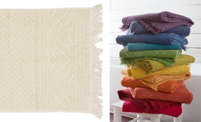 Handtuch 50x100cm aus reiner Baumwolle in creme