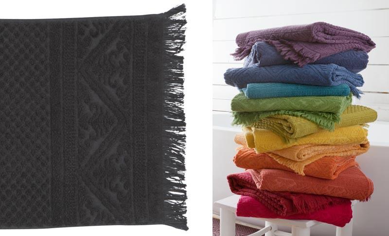 Gästehandtuch, Gästetuch 30x50cm aus reiner Baumwolle in anthrazit