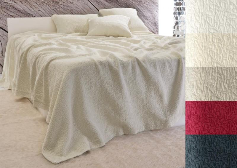 Tagesdecke Estoril - Paisley Muster - beige 180x260 - 260x300cm