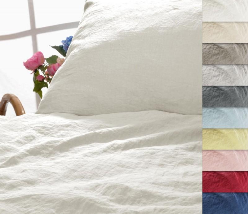 Leinen-Bettwäsche Kissenbezug Sintra 100% Leinen - hergestellt in Portugal