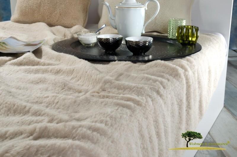 Wolldecke (Bettdecke) Almond 200x220cm aus 100% Merinowolle