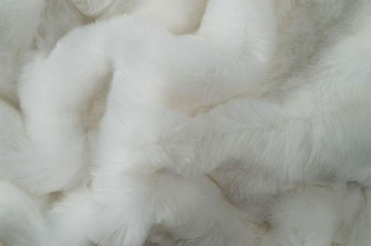 Felldecke von Eskimo - Eskitex aus Webpelz Orsino weiß 150x200cm