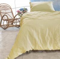 Leinen-Bettwäsche-Set Sintra vanille-gelb 100% Leinen - hergestellt in Portugal nach Öko Tex 100