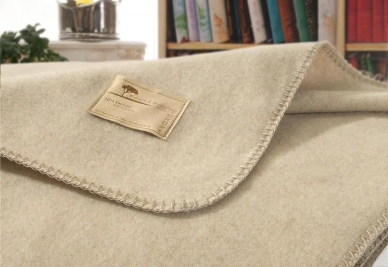 AKTION Kaschmirdecke Amalfi umkettelt, aus 100% Kaschmir in creme-beige 150x200 und 150x220cm