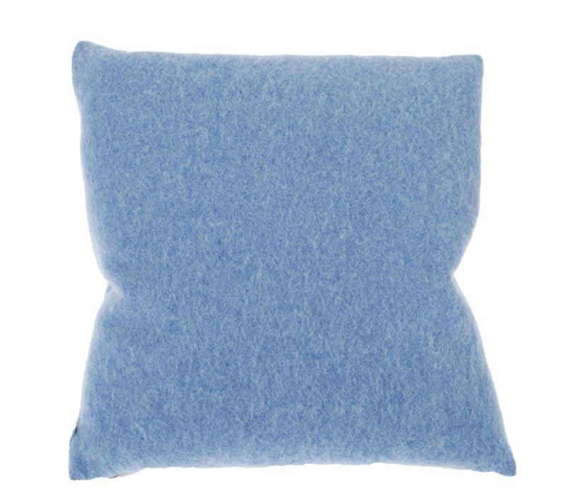 Kissen von Steiner Alina mit Füllung Azur/blau