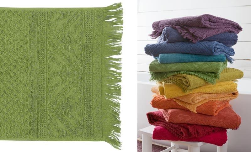 Handtuch 50x100cm aus reiner Baumwolle in bambus-grün