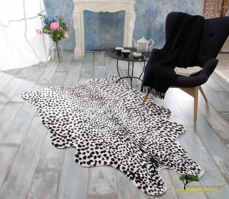 XXL Fellteppich, großer Kurzflor Teppich Leopard