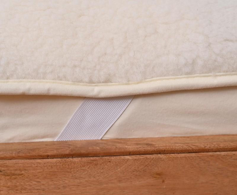 Matratzenauflage (Matratzentopper) mit Flor aus 100% Merinowolle 90x200cm
