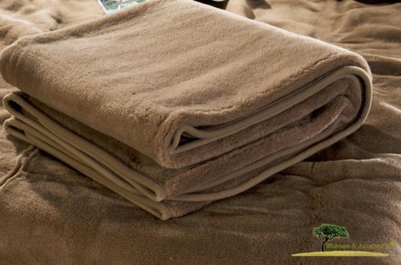 Wolldecke (Bettdecke) Schoko 135x200cm aus 90% Merinowolle und 10% Kamelhaar