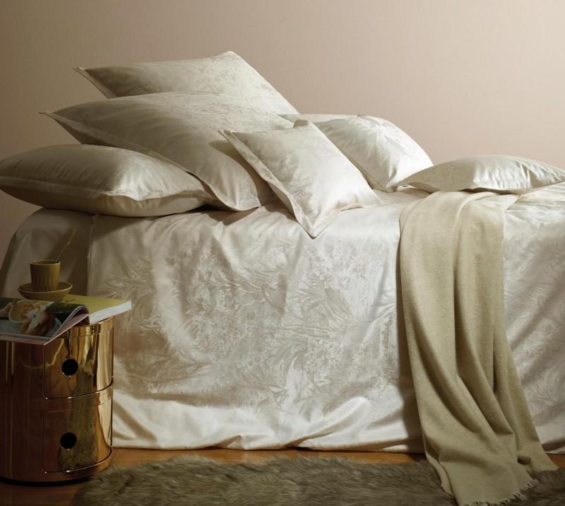 Curt Bauer Bettwäsche Set Calista in beige 135x200cm und 80x80 oder 40x80cm Kissen