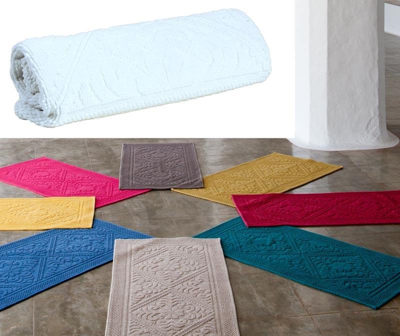 Badteppich - Badematte - Badvorleger 64x54cm in weiß, gibt es in vielen Farben