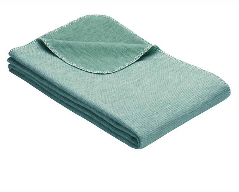 IBENA Babydecke aus 100% Baumwolle GOTS zertifiziert 70x100cm petrol