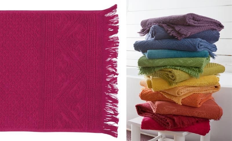 Gästehandtuch, Gästetuch 30x50cm aus reiner Baumwolle in Fuchsien-rot