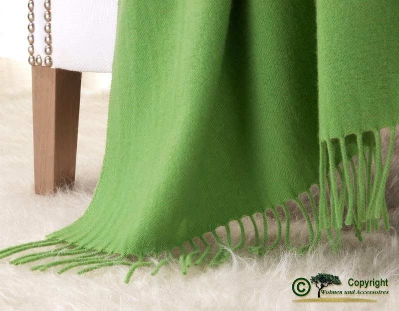 Kaschmirdecke Victoria grün, 100% Kaschmir 130x220cm