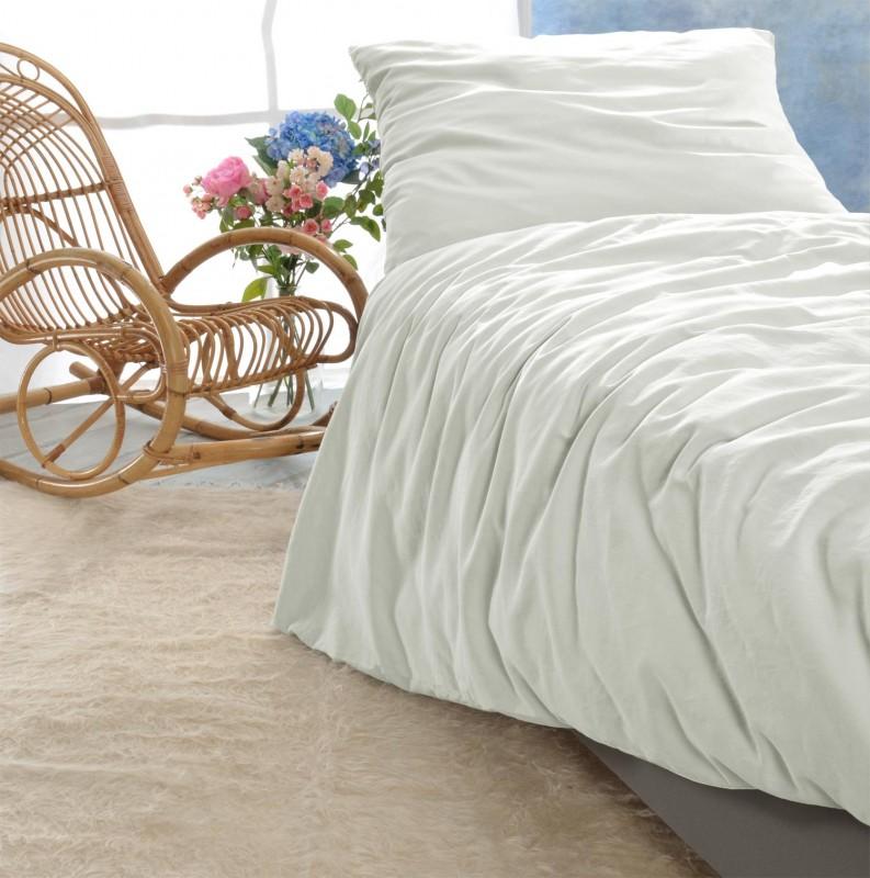 Satin Bettwäsche-Set Porto in weiß 100% Baumwolle - hergestellt in Portugal