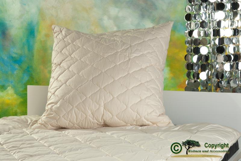 kopfkissen h lle fein batist aus kba baumwolle f llung kbt schafschurwollkugeln 80x80cm 1200g. Black Bedroom Furniture Sets. Home Design Ideas