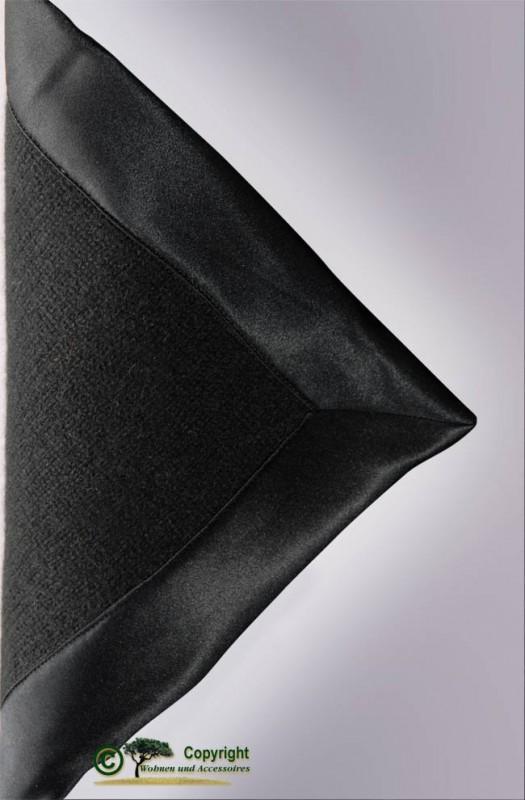 Märchenhafte gestrickte Kaschmirdecke, gestricktes Kaschmirplaid, Wolldecke in schwarz