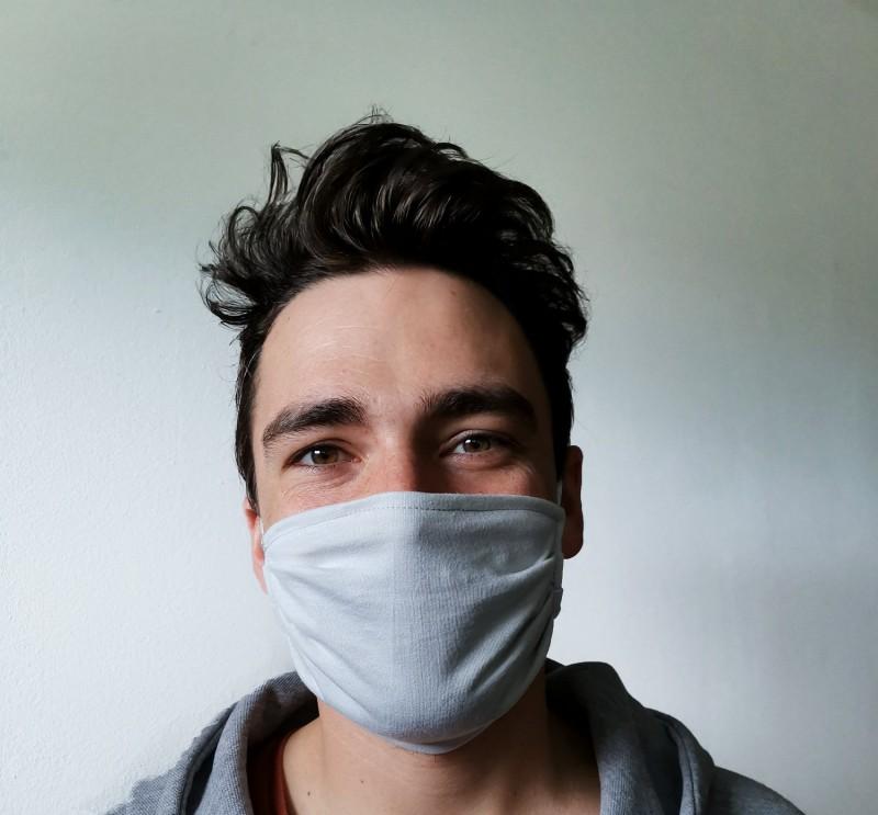 Gesichtsmaske 100% Baumwolle, Mund-Nasen-Maske aus Baumwolljersey hergestellt in Griechenland