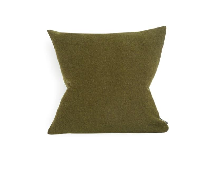 Kissen von Steiner Alina mit Füllung oliv/grün