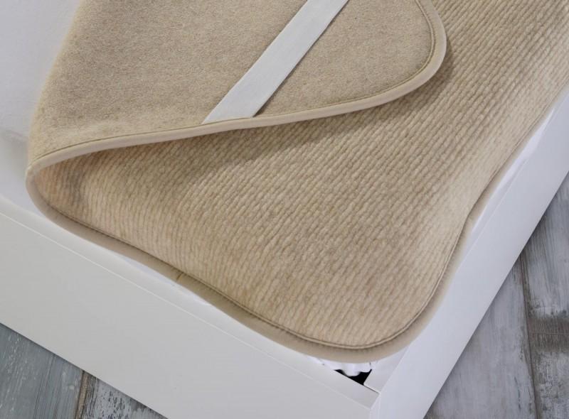 Matratzenauflage (Matratzentopper) aus 100% Merinowolle 140x200cm