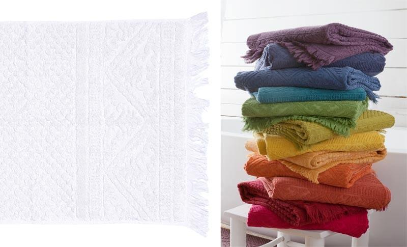 Handtuch 50x100cm aus reiner Baumwolle in weiss