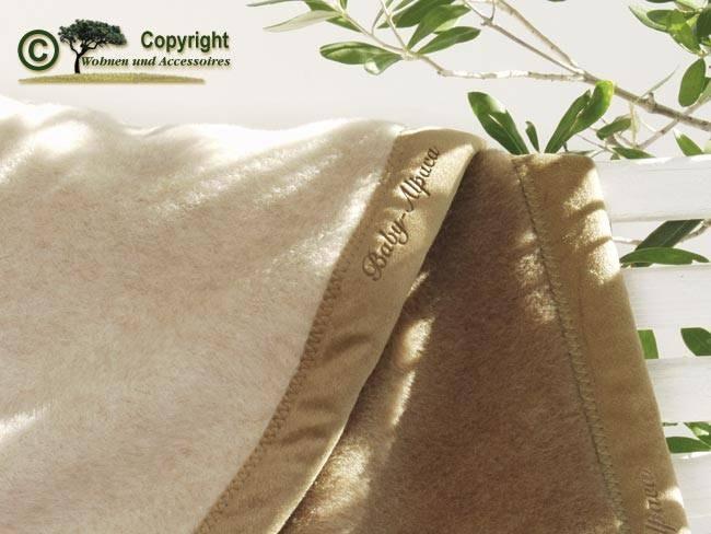 Traum Wolldecke von Ritter aus 100% Baby-Alpaka doubleface 150x220cm