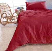 Leinen-Bettwäsche-Set Sintra rot 100% Leinen - hergestellt in Portugal nach Öko Tex 100