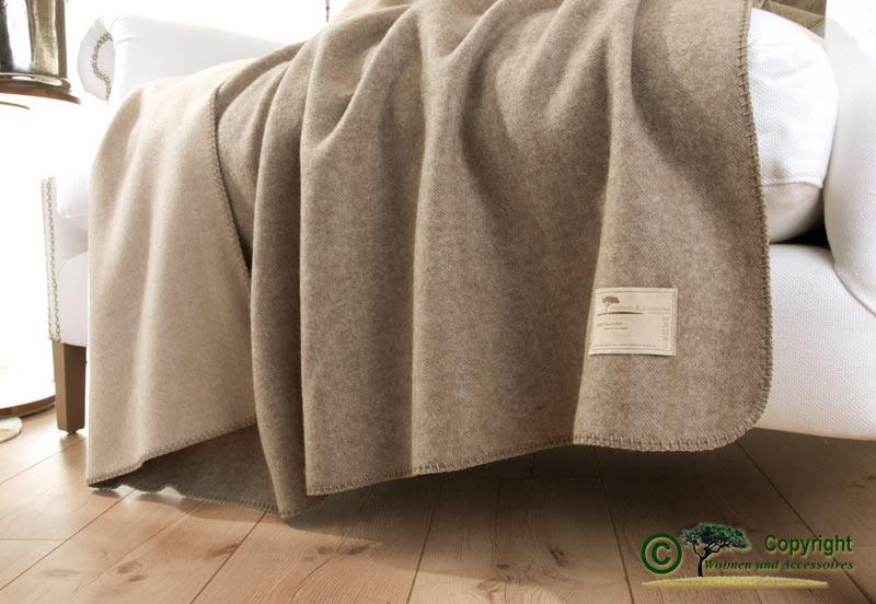 Kaschmirdecke Portofino, Kaschmirplaid, umkettelte Wolldecke 150x150cm - Kaschmirdecke für Kinder-Co