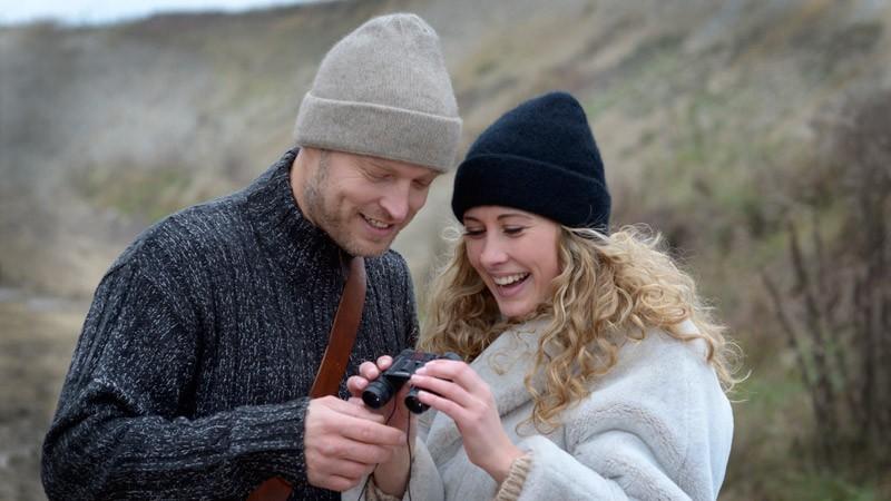 Mütze Possum-Merino Wolle, Wollmütze, Beanie beige uni