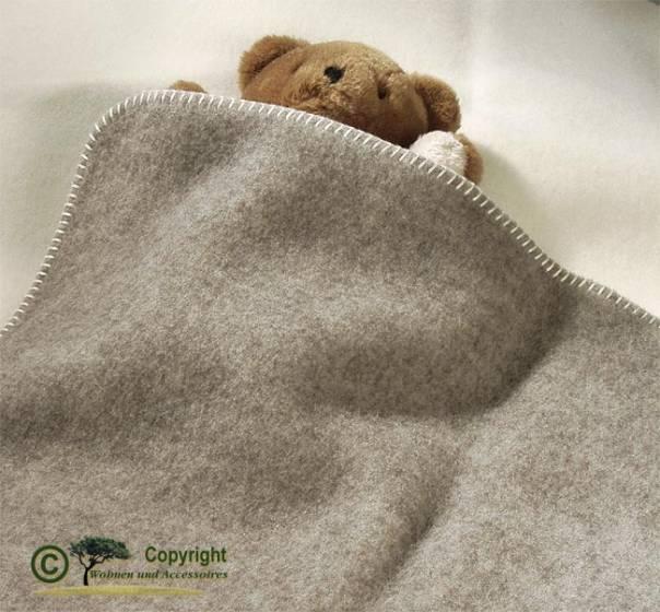 naturbelassene babydecke baby wolldecke grau und wollwei kolana 75x100cm von steinbeck. Black Bedroom Furniture Sets. Home Design Ideas
