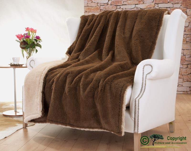 edle und sehr warme doppel wolldecke aus alpaka von steiff schulte in braun edle felldecken. Black Bedroom Furniture Sets. Home Design Ideas