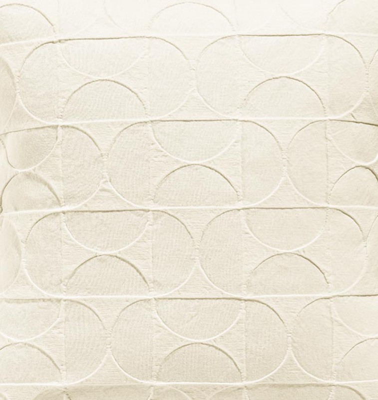Tagesdecke Tom, toller französischer Überwurf mit Mustern aus Halbmonden elfenbein 260x260cm