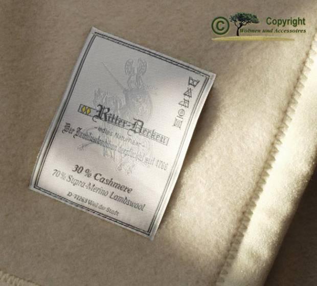 Wolldecke mit 30% Kaschmir / Cashmere Decke Kaschmirdecke